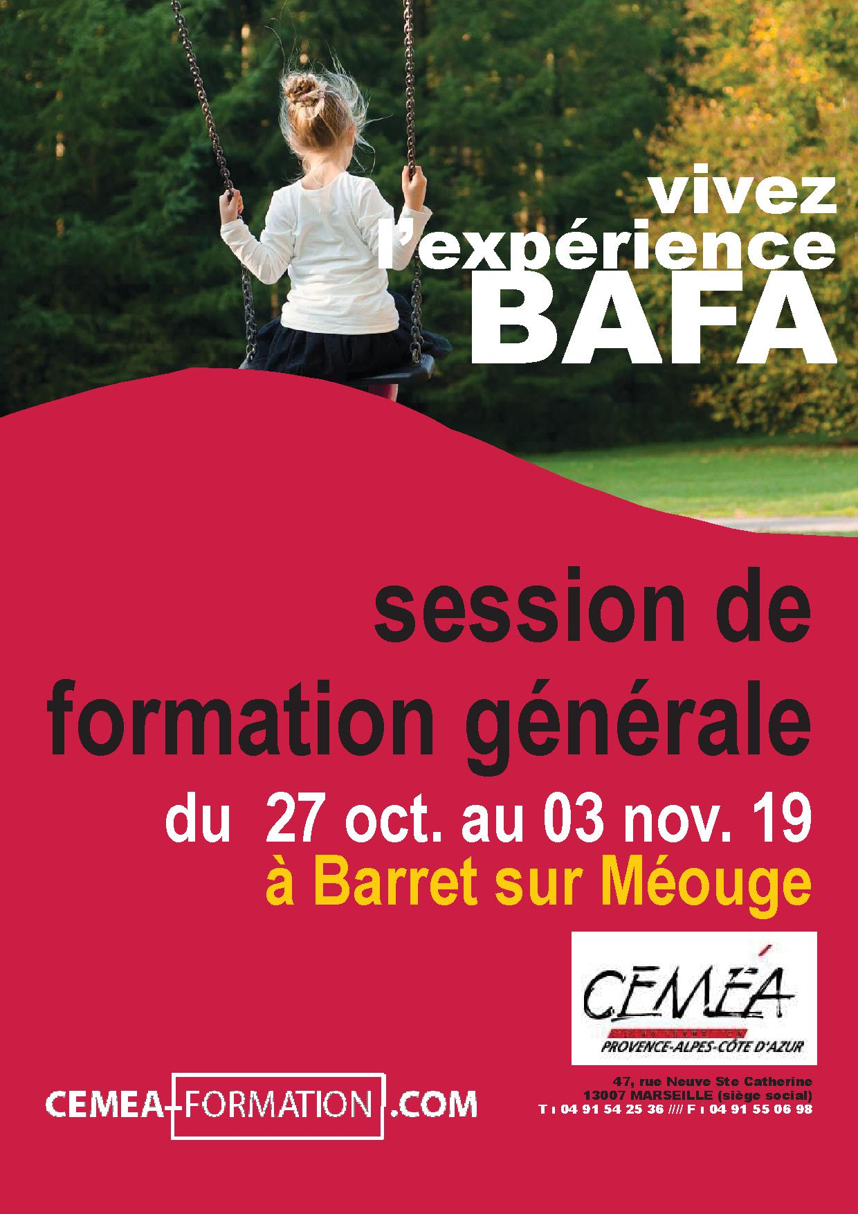 BAFA SESSION GENERALE