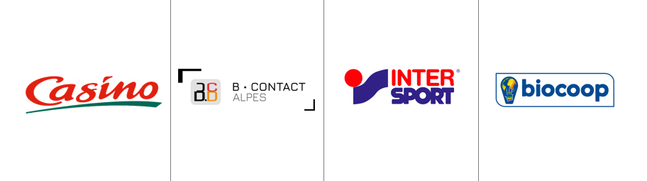 Casino & B Contact Alpes & Intersport & Biocoop